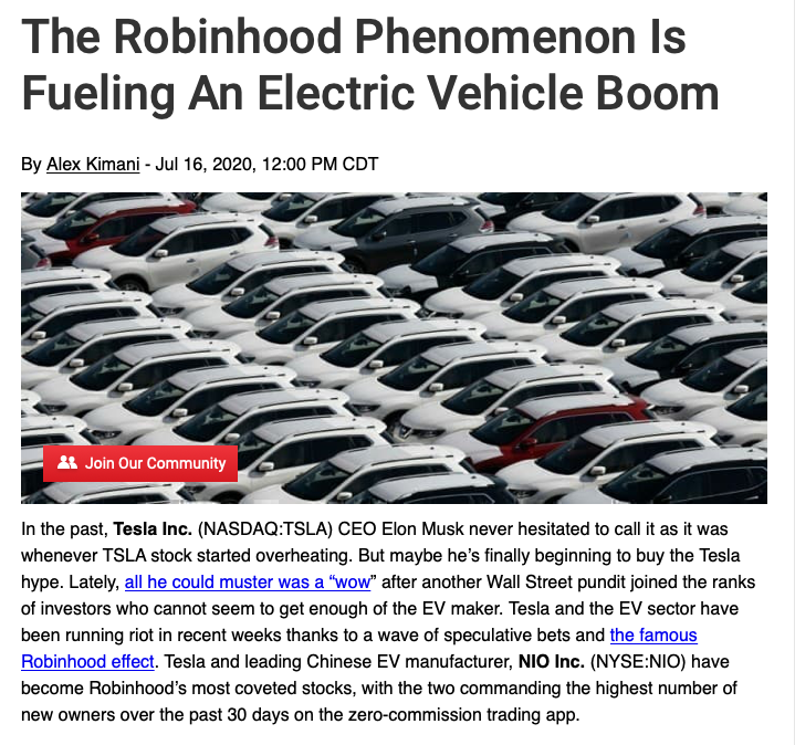 Green and Sustainable investing, Electric Vehicle Boom